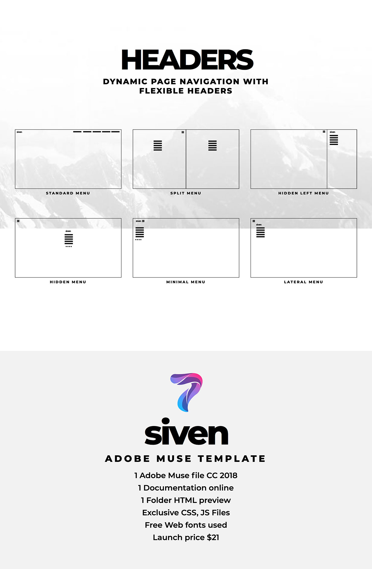 Siven - Adobe Muse Template - 4